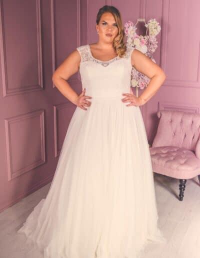Victoria Kay a line wedding dress