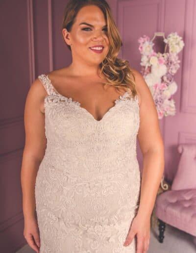 plus size mermaid wedding gown
