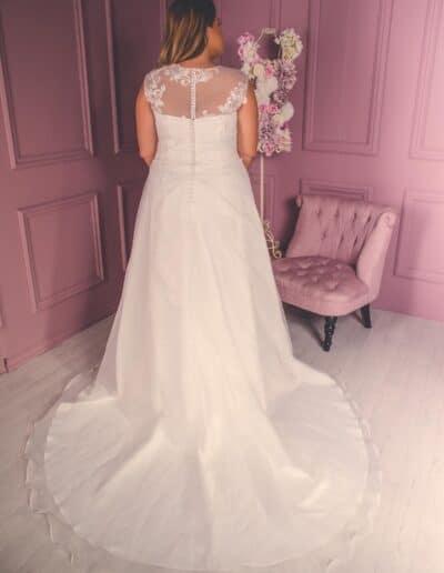 organza a-line wedding dress