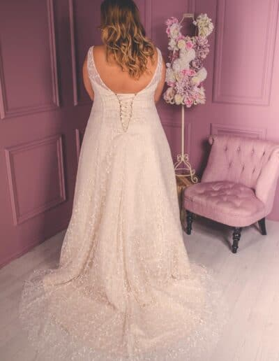 low back a-line wedding dress