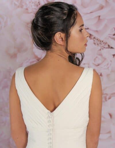 ruched wedding dress VK53