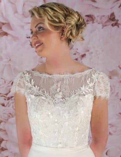 boat neck wedding dress