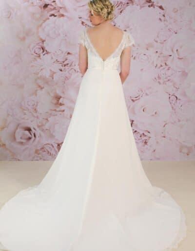 Victoria Kay low back destination wedding dress