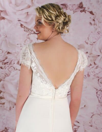 Victoria Kay Low back wedding dress