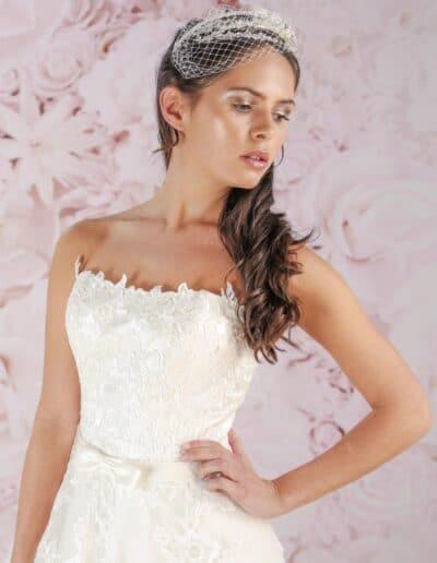 Victoria Kay strapless ballgown