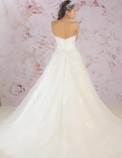 Victoria Kay lace and tulle ballgown