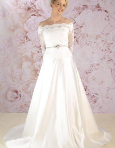 Victoria Kay off the shoulder dress