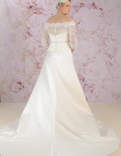 Victoria Kay satin wedding dress