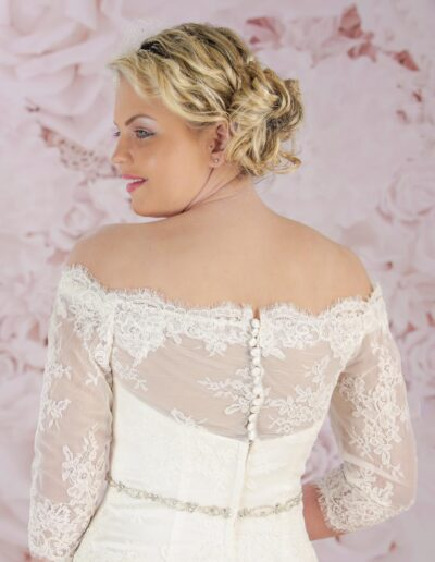Victoria Kay wedding dress with lace sleeves